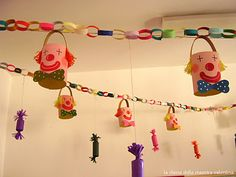 giant paper chain clowns these are lovely