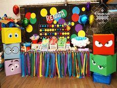 Inside Out / Dulces / Candy Bar / Mesa de Dulces / Candy Buffet / Intensamente / Intensa Mente / Niños / Cumpleaños / Birthday / Alegría / Tristeza / Temor / Furia / Desprecio / De revés