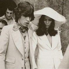 Bianca Jagger   Gelinlik ve şapka