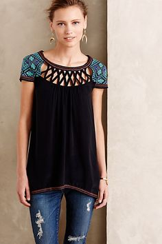Embroidered Muscari Tunic #anthropologie