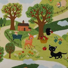 very cute japanese Children fabric with deer