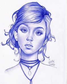 Ballpoint pen drawing by Sonia Davel. 2017