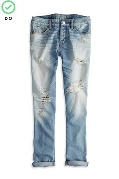 The Dos And Don'ts Of 10 Challenging Trends #refinery29  http://www.refinery29.com/fashion-fears#slide3  Distressed Denim
