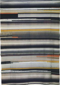 Gunta Stölzl - Bauhaus MasterWall hanging after Helene Nonne-Schmidt Flatweave. Partly reversed harness Wool, rayon and other yarns 1923 138 x 100 cm Copy made by Helene Boerner in Bauhaus-Museum, Weimar. Art Textile, Textile Artists, Textile Patterns, Print Patterns, Bauhaus Textiles, Anni Albers, Modernisme, Weaving Textiles, Tapestry Weaving