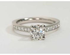 1.2 Carat Diamond Princess Cut Channel Set Diamond Engagement Ring | Recently Purchased | Blue Nile