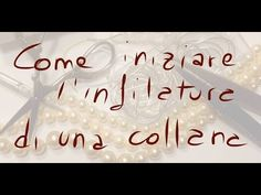 "tutorial: come infilare una collana con canottiglia e nodini ""vecchia scuola "" - YouTube Diy Jewelry Holder Tree, Handmade Wire, Handmade Jewelry, Jewelry Knots, Diy Jewellery, Crochet Collar, Diy Schmuck, Bijoux Diy, Diy Earrings"
