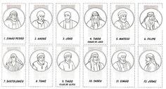 laminas de los doce apostoles para imprimir   Atividade extra – os 12 discipulos