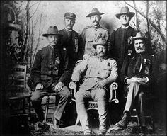 Theodore Roosevelt at 1899 Rough Riders reunion