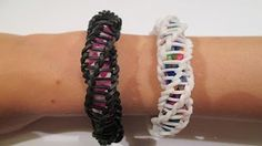 how to make the finger chain-rainbow loom or crazy loom - YouTube