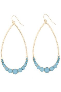 The Eliana Gemmed Teardrop Earrings are the perfect blend of beachy and glam!