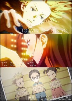 "Shigatsu wa kimi no uso ""To win against you, To reject you, that is our goal"""