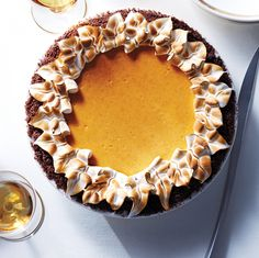 Pumpkin-Cheesecake Pie with Gingersnap Crust try with non dairy cream cheese or coconut cream prior to thanksgiving