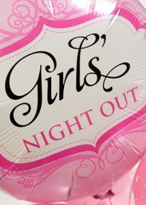 """Pink balloons that read """"Girls Night Out"""". Hen Party Balloons, Pink Balloons, Balloon Arrangements, Girl Reading, Girls Night Out, How To Plan, Blog, Meals, Make Up"""