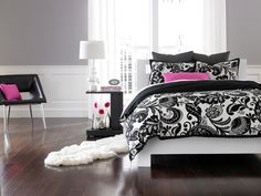 Black & White Bedroom - contemporary - bedroom - new york - Loom Decor