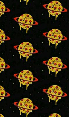 Imagem de pizza, wallpaper, and planet Planets Wallpaper, Food Wallpaper, Tumblr Wallpaper, Wallpaper Backgrounds, Iphone Wallpaper, Cute Wallpapers, Aesthetic Wallpapers, Graffiti, Vsco
