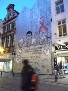 world aids day --- brussels