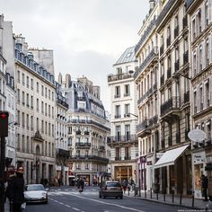 Streets in Paris... ❤ liked on Polyvore featuring backgrounds, pictures, fillers, photos and buildings
