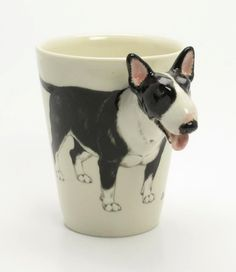 English Bull Terrier Coffee Mug a unique gift for pet lover. $55.00, via Etsy.
