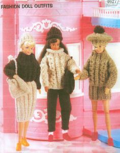 Fashion Doll Clothes Knitting Pattern Book 3 by dianeh5091 on Etsy