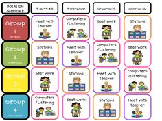 Literacy Center Rotations Schedule that I understand! Reading Stations, Literacy Stations, Reading Centers, Literacy Centers, Work Stations, Reading Groups, Writing Centers, Reading Charts, Writing Tips