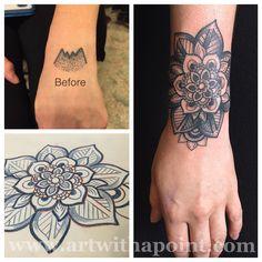 Znalezione obrazy dla zapytania mandala cover up tattoo