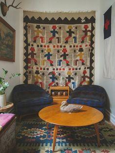 Wandteppich im Wohnzimmer