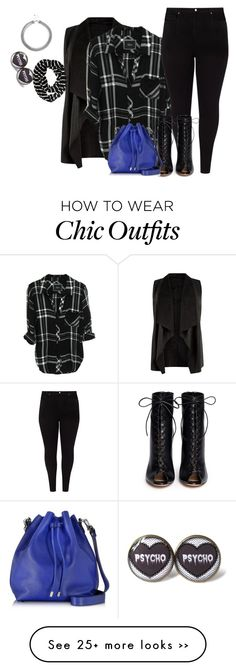 """""""plus size fall/winter chic in plaid"""" by kristie-payne on Polyvore featuring Mode, Studio 8, Gianvito Rossi, Proenza Schouler, Aéropostale und Lipsy"""