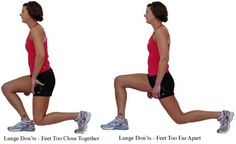 The Dos, Don'ts, and Variations for Lunges: Lunge Don'ts - Stance:  Too Close or Too Wide