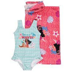 7694fa847a Disney Moana Hooded Towel Poncho Swimsuit Set | Kids | George Asda, Moana,  Swimsuit