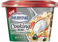 Use this $.55 coupon to get a nice discount on Philadelphia Lowfat Cooking Creme!