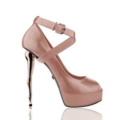 Dukas X Silhouette Cipria Peep Toe Pumps Types Of Heels, Kinds Of Shoes, Peep Toe Pumps, Stiletto Heels, Shoe Nails, Hot Heels, Winter Collection, Jimmy Choo, Fashion Shoes