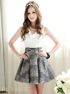 Mango Doll - Mosaic Bow Lace Sleeveless Dress , $58.00 (http://www.mangodoll.com/all-items/mosaic-bow-lace-sleeveless-dress/)