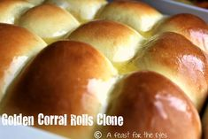 Golden Corral Rolls ~ the easiest and fastest homemade bread rolls Yeast Rolls, Bread Rolls, Golden Corral Rolls, Golden Corral Dinner Rolls Recipe, Old Fashioned Bread Pudding, Unstuffed Cabbage Rolls, Best Pasta Salad, Recipe For 4, Recipe Key