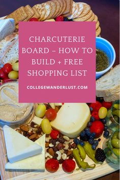 Click to read how to built the perfect Charcuterie Board plus a FREE Shopping List. Includes the best Charcuterie Board Wine Pairings. #wine #charcuterie #cheese Greek Recipes, Asian Recipes, Mexican Food Recipes, Whole Food Recipes, Charcuterie Board Meats, Charcuterie Cheese, Butter Chardonnay, Bagel Chips, Wine Pairings