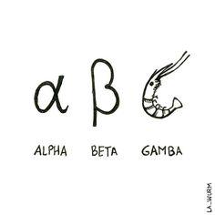 Este alfabeto griego versión Sol y Playa es el toque científico de la semana…