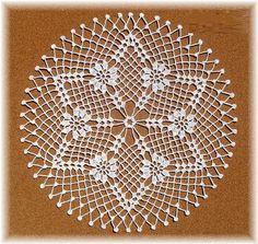P lace round crochet Free Crochet Doily Patterns, Crochet Doily Diagram, Crochet Borders, Crochet Chart, Filet Crochet, Baby Knitting Patterns, Crochet Motif, Knit Crochet, Diy Lace Doily Bowl