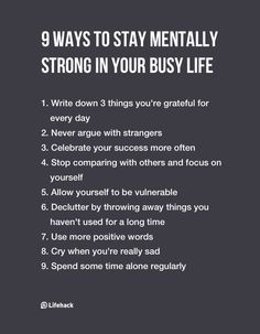 We work out all the other muscles, but have you exercised your brain lately? These 9 ways to stay mentally strong will help you stay sane even in busy seasons of life. #personaldevelopment #personalgrowth
