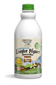 Organic Valley Lowfat Yogurt Smoothie In Plain, Triple Berry and Vanilla Bean. A versatile and delicious yogurt for everyday enjoyment.
