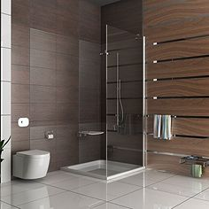 Duschwand Duschabtrennung mit Antikalk Duschkabine Dusche 100x195 cm Duscht�r Pendelt�r Seitenteil