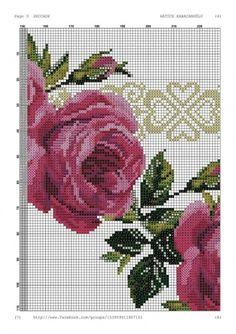 Geri Dönüşüm Projeleri Cross Stitch Rose, Cross Stitch Embroidery, Cross Stitch Patterns, Prayer Rug, Embroidery Designs, Charts, Watches, Pink Tablecloth, Wool Carpet