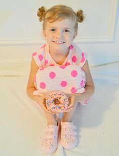 Abby with Donut Sprinkle Donut, Baby Sprinkle, Donut Shoes, Diy Donuts, Donut Party, Ice Cream Party, Birthday Parties, Sweetest Thing, Cami