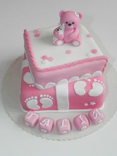 Pink Baby shower cakes