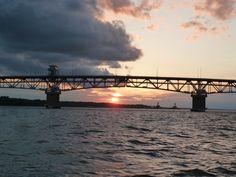 Yorktown Virginia at sunset.  Loved this town!!!