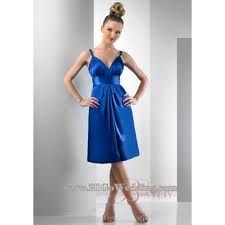 Brides Maid Dress for Blue Wedding