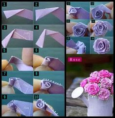 How to make roses out of tissue paper!