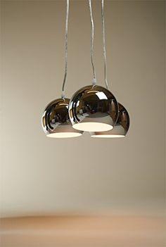 Design HÄNGELEUCHTE TRIAS chrom / stilvoll und elegant / Blickfang für Ihr Zuhause: Amazon.de: Beleuchtung