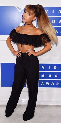 See the Best Looks from the 2016 MTV Video Music Awards Red Carpet - VMA 2016 - Ariana Grande from InStyle.com