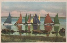 Rainbow Fleet Becalmed Nantucket postcard. by NantucketCards