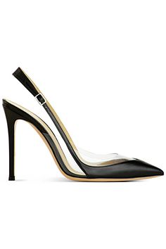Gianvito Rossi Spring 2014 - I love the lines and the design. Its a shame sling backs make me look more mature Shoe Boots, Shoes Heels, Pumps, Sergio Rossi Shoes, Shoes 2014, All About Shoes, Fashion Shoes, Fashion Black, Fashion Men