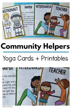 Kids yoga with a community helpers theme. Combine learning and movement with these fun yoga cards. These are perfect for your community helpers theme and can be used all year long. You will LOVE these and so will your kids! Space Activities, Gross Motor Activities, Infant Activities, Preschool Age, Preschool Lessons, Preschool Activities, Community Helpers Activities, Kinesthetic Learning, Science Education